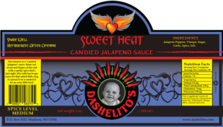 Label for Sweet Heat by Dashelito's